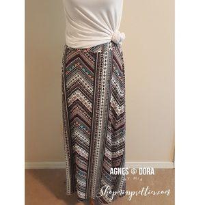 Fun Side-Slit Maxi Skirt by Agnes & Dora Medium